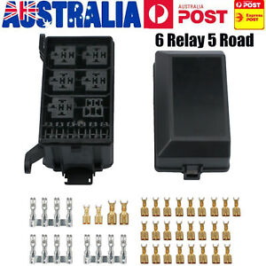image is loading fuse-box-auto-6-relay-block-holders-5-
