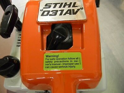 SIDE COVER DECAL FOR STIHL CHAINSAW 009 010 015 031 032 028 038 045 056 075