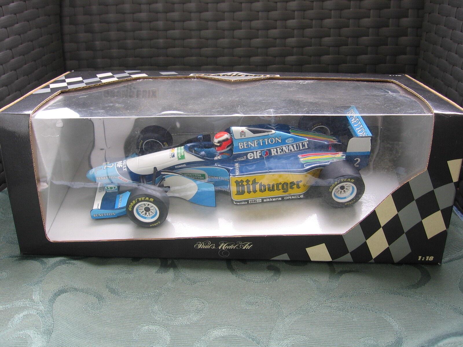 F1 Benetton B 194 5 Showcar 1995 J. HERBERT Minichamps 1 18 limited NEUF Comme neuf