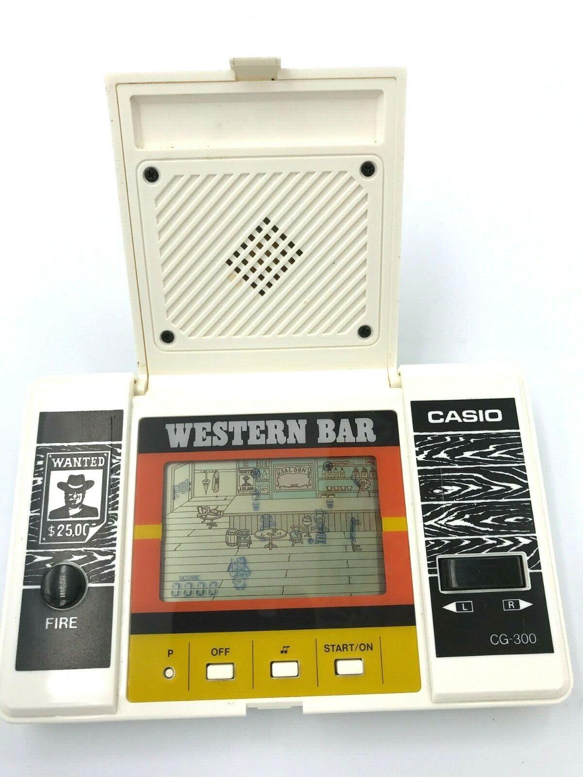 Casio Western Bar CG-300 Handhållen LCD Spel Klassisk retro HandName