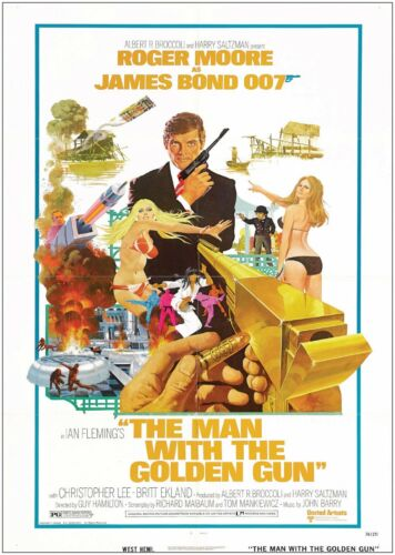 James Bond Golden Gun Vintage Classic Movie Poster Art Print A0 A1 A2 A3 A4 Maxi