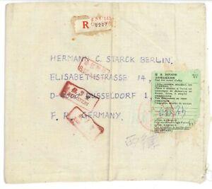 Brief aus China nach Düsseldorf - Brief aus Stoff - Leinenbeutel als Umschlag