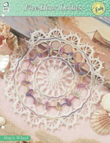 Ship/'s Wheel Doily Crochet Pattern Five-Hour Doilies HOWB Series
