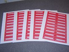 100 Blank Red Juke Box Labels Jukebox  FREE S&H