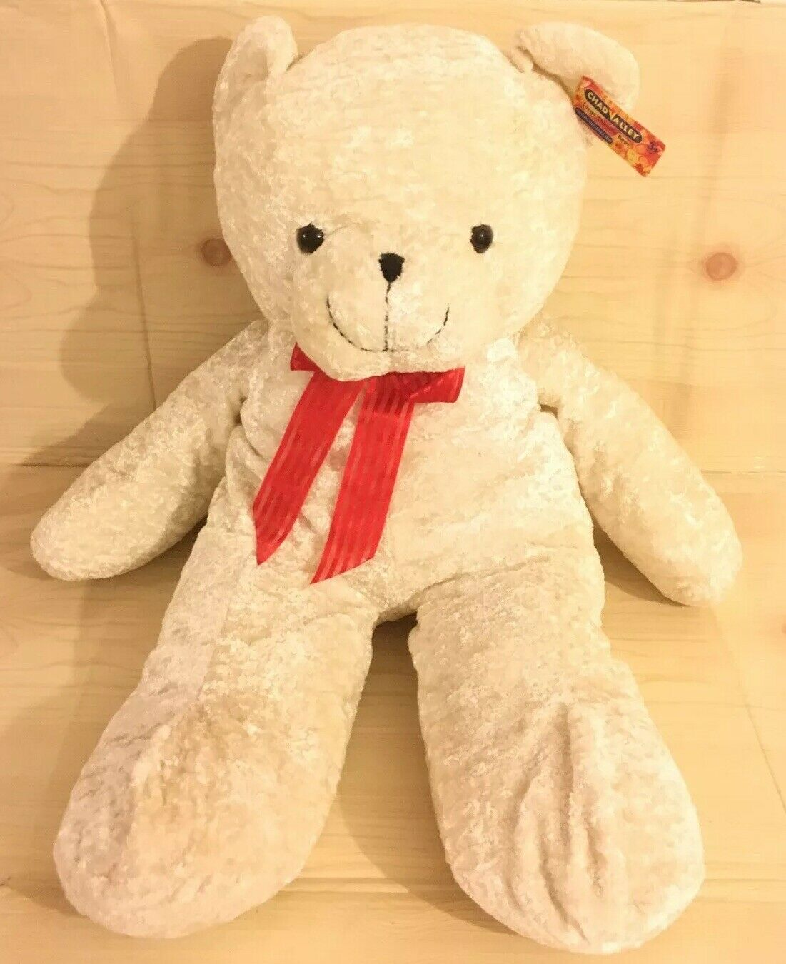 """Large Chenille Teddy Bear Soft Plush Toy 31"""" With Tag Chad Valley Very Rare"""