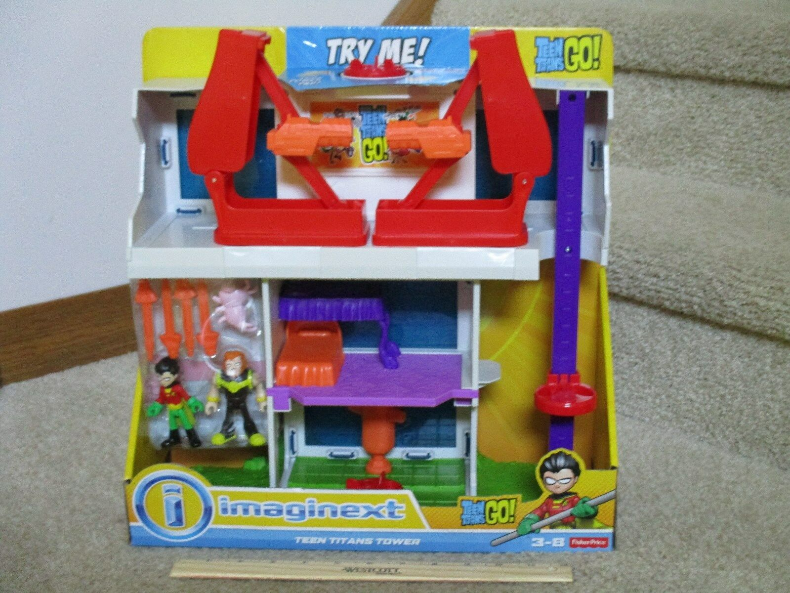 Fisher Price Imaginext New Teen Titans Tower  headquarters Robin Silkie Mammoth