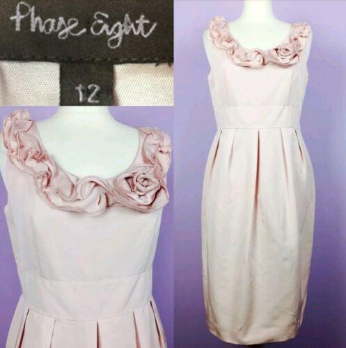 Nude Phase pink Size Eight Mob Mix 12 Silk Dress FwSpwx