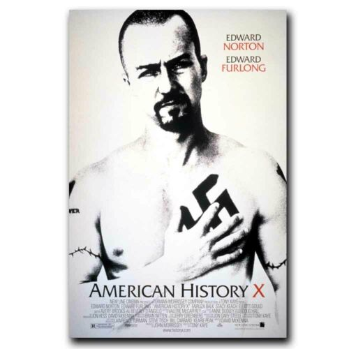 American History X Edward Norton 24x36inch Classic Movie Silk Poster Decoration