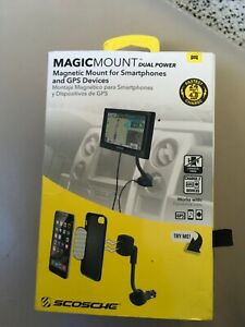 NIB SCOSCHE MagicMount Magnetic Dual Power Outlet CAR Cell Mobile Smartphones