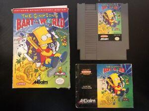 The-Simpsons-Bart-Vs-The-World-Nes-Nintendo-Complete-W-box-amp-Manual