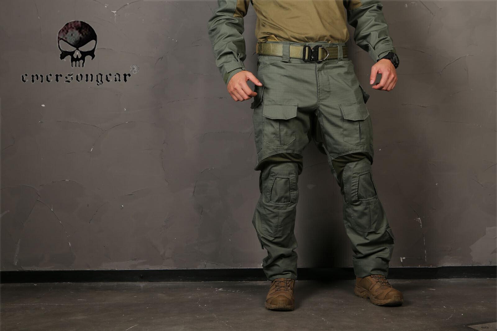 Emerson Combat Gen3 Pantalones Con Rodillera Airsoft Caza Pantalones Tácticos FG