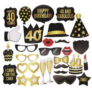 Details About 30th 40th 50th Birthday Photo Booth Props DIY Kit Party Favor Supplies