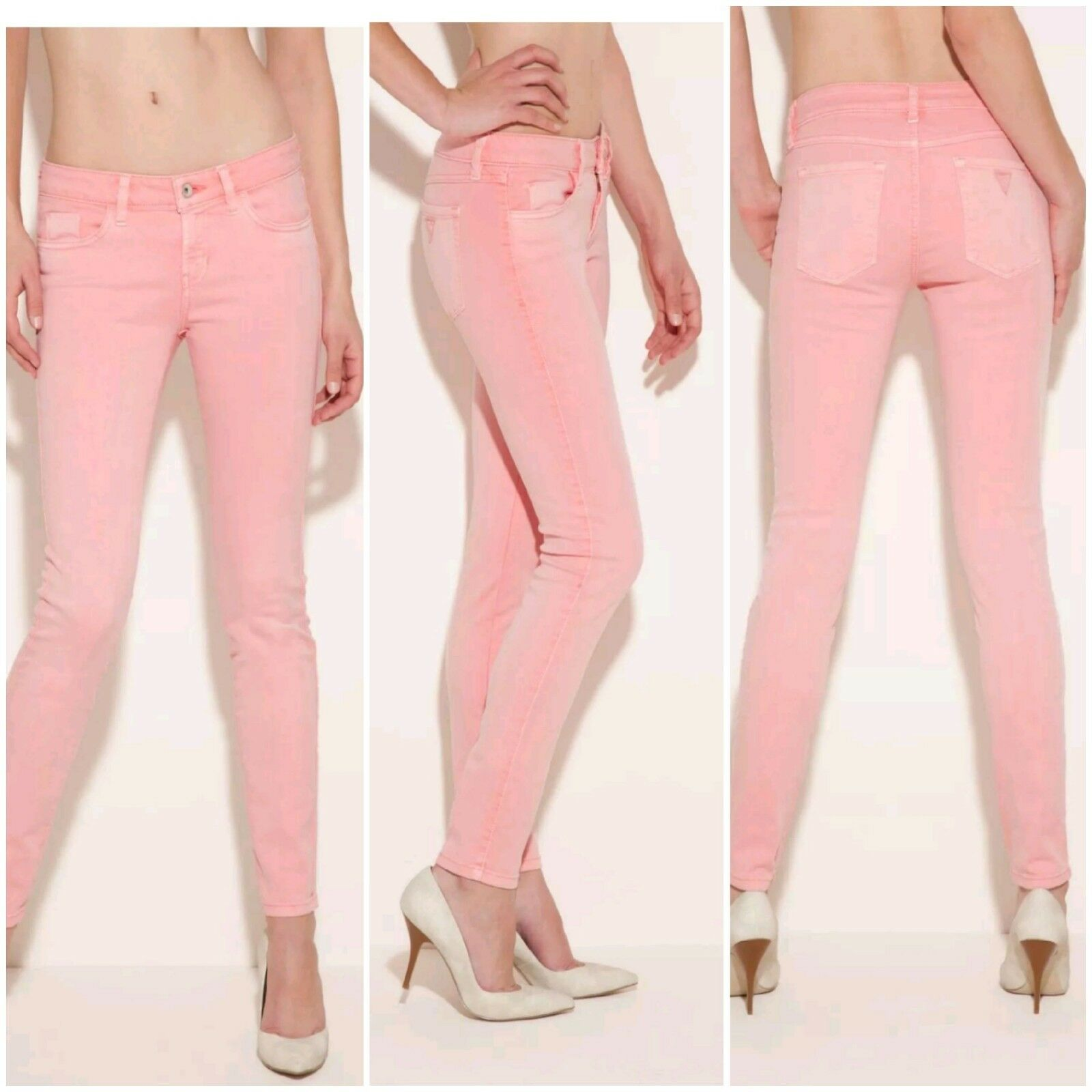 NWT GUESS Brittney Skinny colord  PINK Jeans size 24
