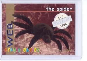 Ty S1 *SILVER* Retired  *Web The Spider* Beanie Card ONLY RARE INSERT 4041