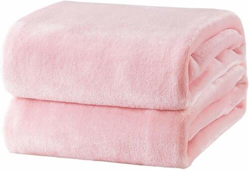 Many Colors Cozy Extra Large King Size Soft Warm Plush Fleece Throw Blanket