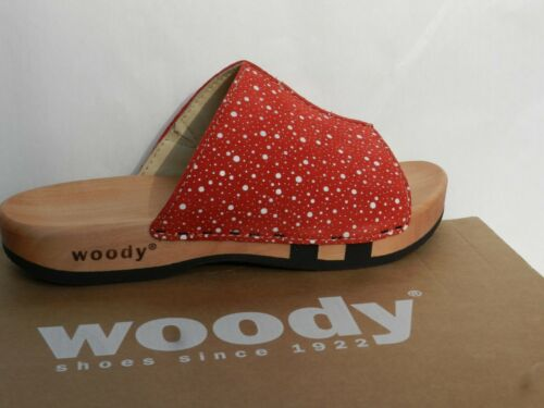 Zoccoli Donna Red Scarpe Uk4 Woody New 37 Nude Zoccoli Anja Scarpe Sandali w0ftqTH