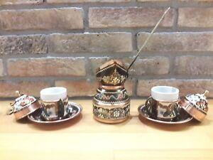 Image Is Loading Turkish Coffee Serving Set Porcelain Cup Amp