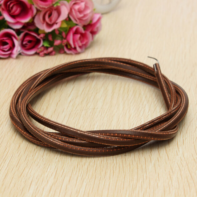 """1.8M 71"""" Leather Cowhide Treadle Belt Sewing Machine Clip Fit Hook For Singer 3C"""
