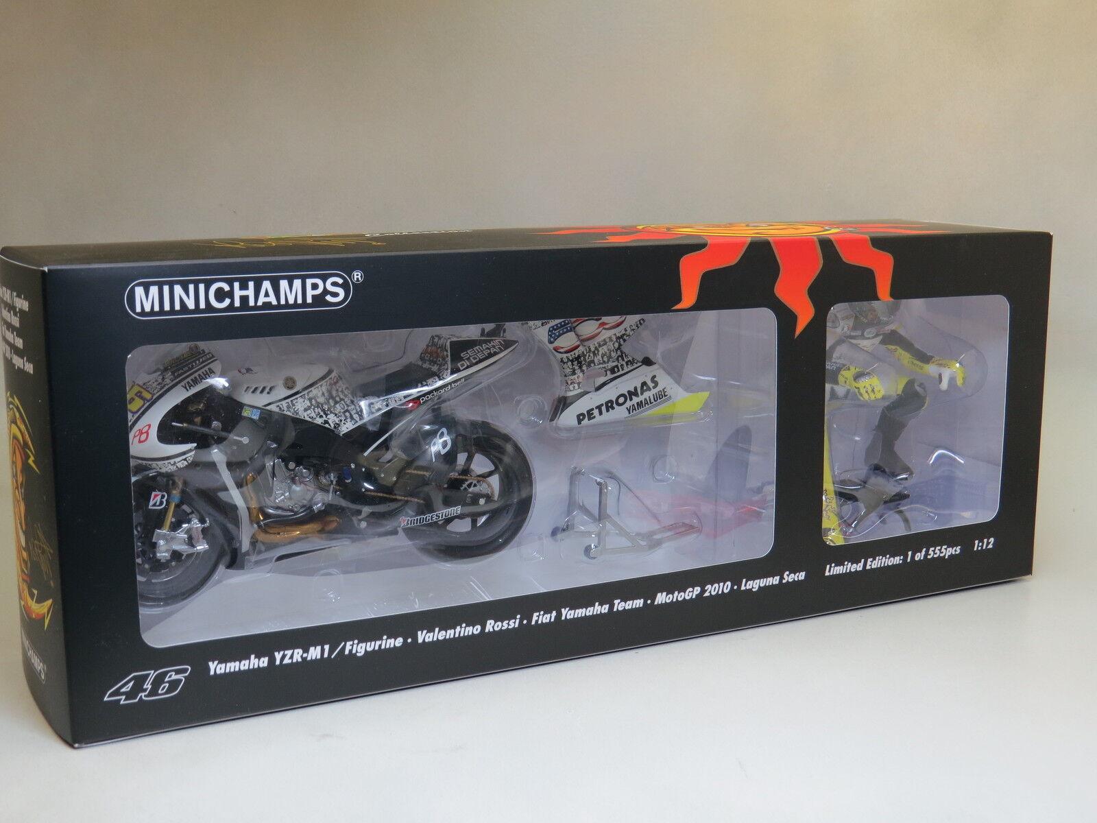 Valentino Rossi Yamaha YZR-M1 Figurine MotoGP 2010 Rare    1 12