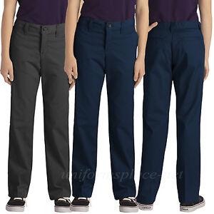 42f009b2db17 Image is loading Dickies-School-Uniform-pants-Girls-Junior-Stretch-Straight-