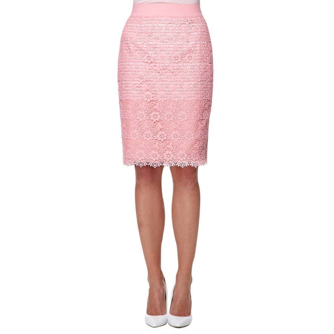 DAMSEL IN A DRESS PINK ANGEL FALL LACE PENCIL SKIRT NEW WITH TAGS
