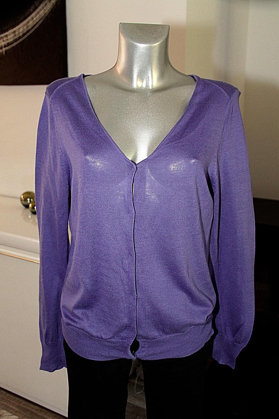 Bonito chaleco terminan terminan terminan en cachemira purplea AMERICAN VINTAGE size M bef64a