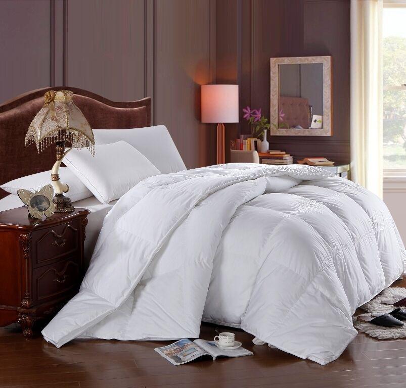 Royal Hotel Solid Best Down Comforter Baffle Box 300 TC Four Season Fill