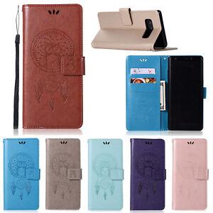 Chouette-en-Relief-Magnetique-Clapet-Support-en-Cuir-Etui-pour-Lot-Sony-Nokia