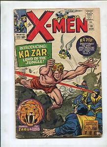 X-MEN #10 (4.0) 1ST KA-ZAR AND ZABU