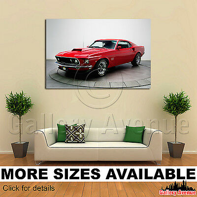 Shelby Ford Mustang GT 350 3.2 Wall Art Canvas Picture Print