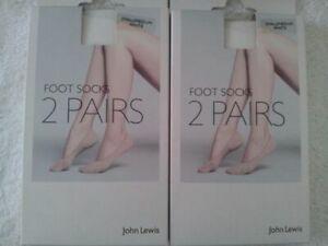 Small//Medium // Medium//Large BNWT JOHN LEWIS 4 x Shoe Liner Tights White