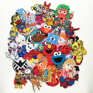 VARIOUS-KIDS-TV-MOVIE-CHARACTER-PATCHES-Iron-Sew-On-Patch-Badge-T-Shirt-C