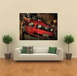 Mustang-GT-Red-Super-Sports-Car-Giant-Wall-Art-Poster-Print