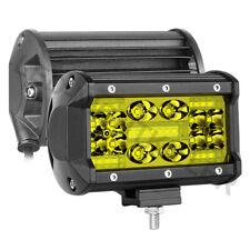 """2Pcs 5"""" 3000K Cree LED Work Light Bar Flood Spot Pods Driving Off Road 4WD 12V"""