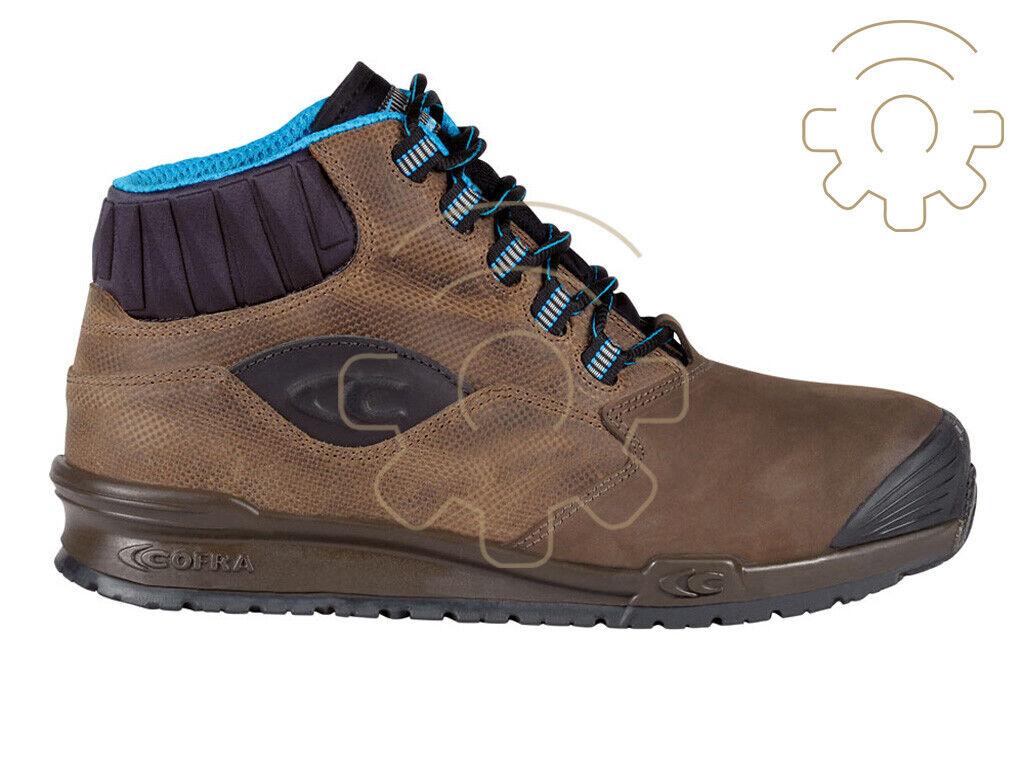 Cofra zapatos de trabajo prevención de accidentes altos Perk Marrón S3