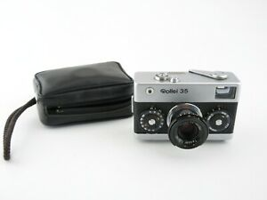 Rollei-35-Kompaktkamera-compact-camera-Tessar-3-5-40-Tasche-case