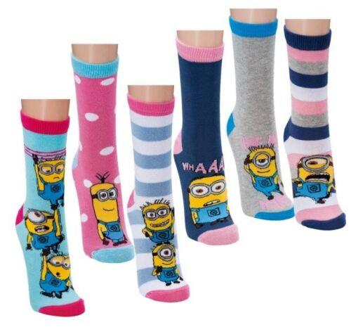 37-42 6 Paar Minion Damen Socken Strümpfe Ich einfach unverbesserlich Gr