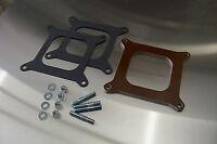 Fits Holley 4150 4160 4 Barrel Phenolic Carb Insulator Spacer Heat Soak 1/4 Kit