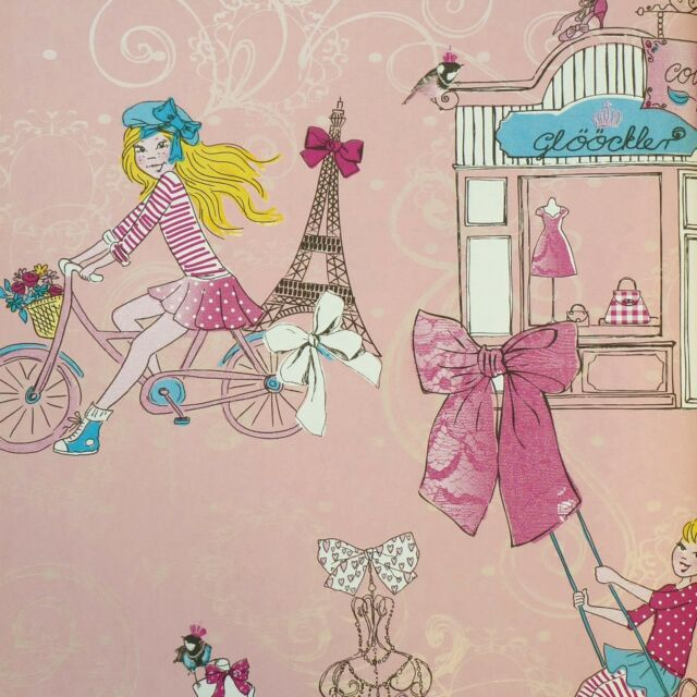 Marburg Tapete Glööckler 54149 Children`s Paradise Eifelturm Paris rosa pink