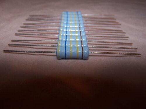 10,000Volts DC Max. 4.64 M Ω Ohm 1 Watt 10 Pcs. Metal Glazed Film Resistors