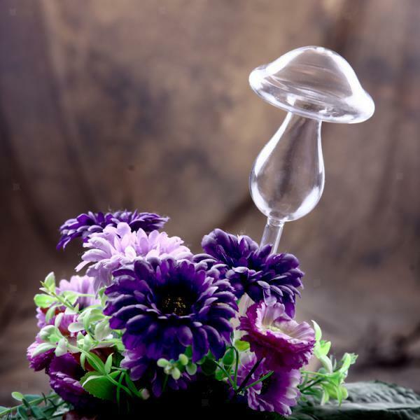 Self Watering Device Houseplant Plant Pot Garden Flower Waterer -Mushroom