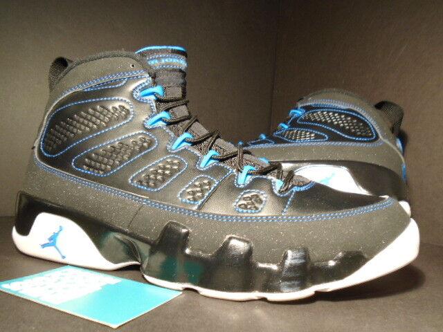 2012 Nike Air Jordan IX 9 Retro schwarz Weiß PHOTO Blau CHARCOAL grau 302370-007