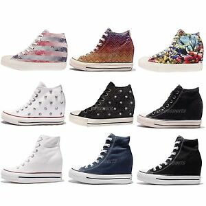 118f41d25d65 Converse Chuck Taylor All Star Lux Women Classic Wedges Hidden Heel ...