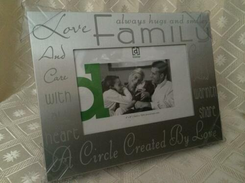 CELEBRATION FAMILY SILVER 4 X 6 PHOTO FRAME