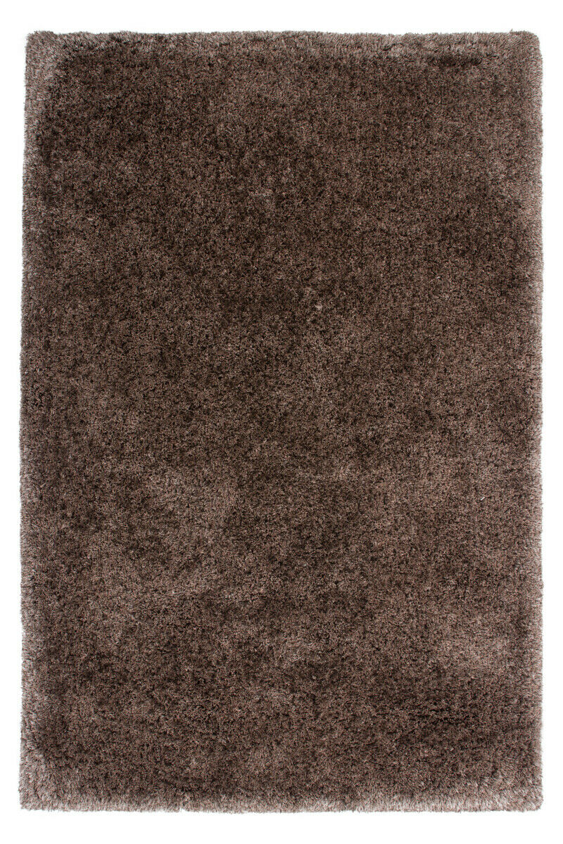 D'un épais Tapis Shaggy Tapis Douillet Confortable Salon Marron 120x170cm