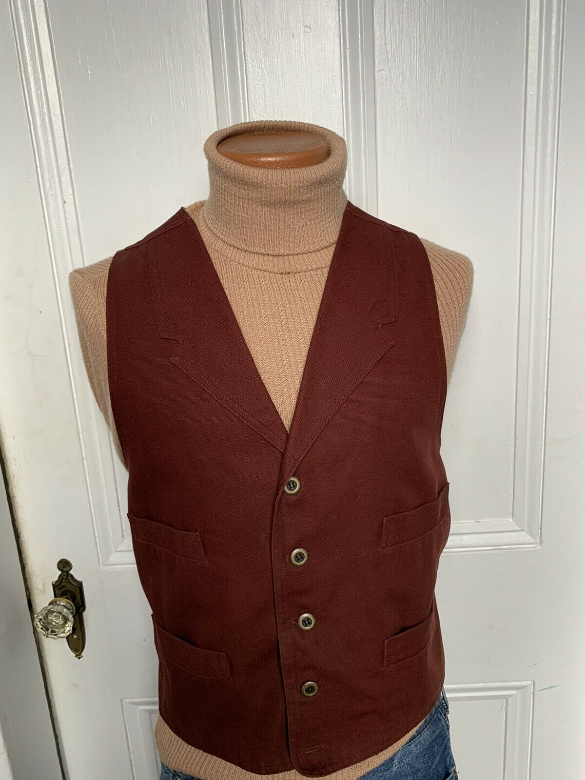 FRONTIER CLASSICS Old West Canvas Duck Vest W/ Pockets Outlaw med.