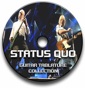 STATUS-QUO-ROCK-GUITAR-TAB-TABLATURE-SONG-BOOK-ANTHOLOGY-SOFTWARE-TUITION-CD