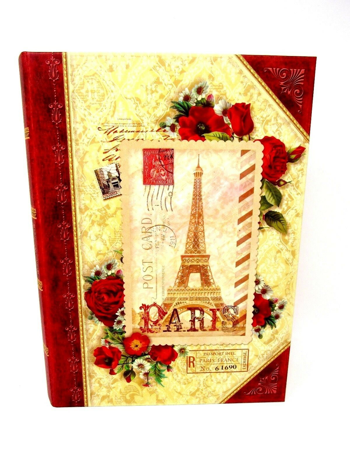 Pooch & Sweetheart Book Box Nesting Paris Red pinks 96134 Large Punch Studio