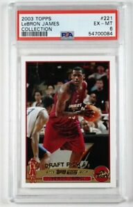 2003 Topps Lebron James #221 Collection Rookie RC PSA 6 EX-MT