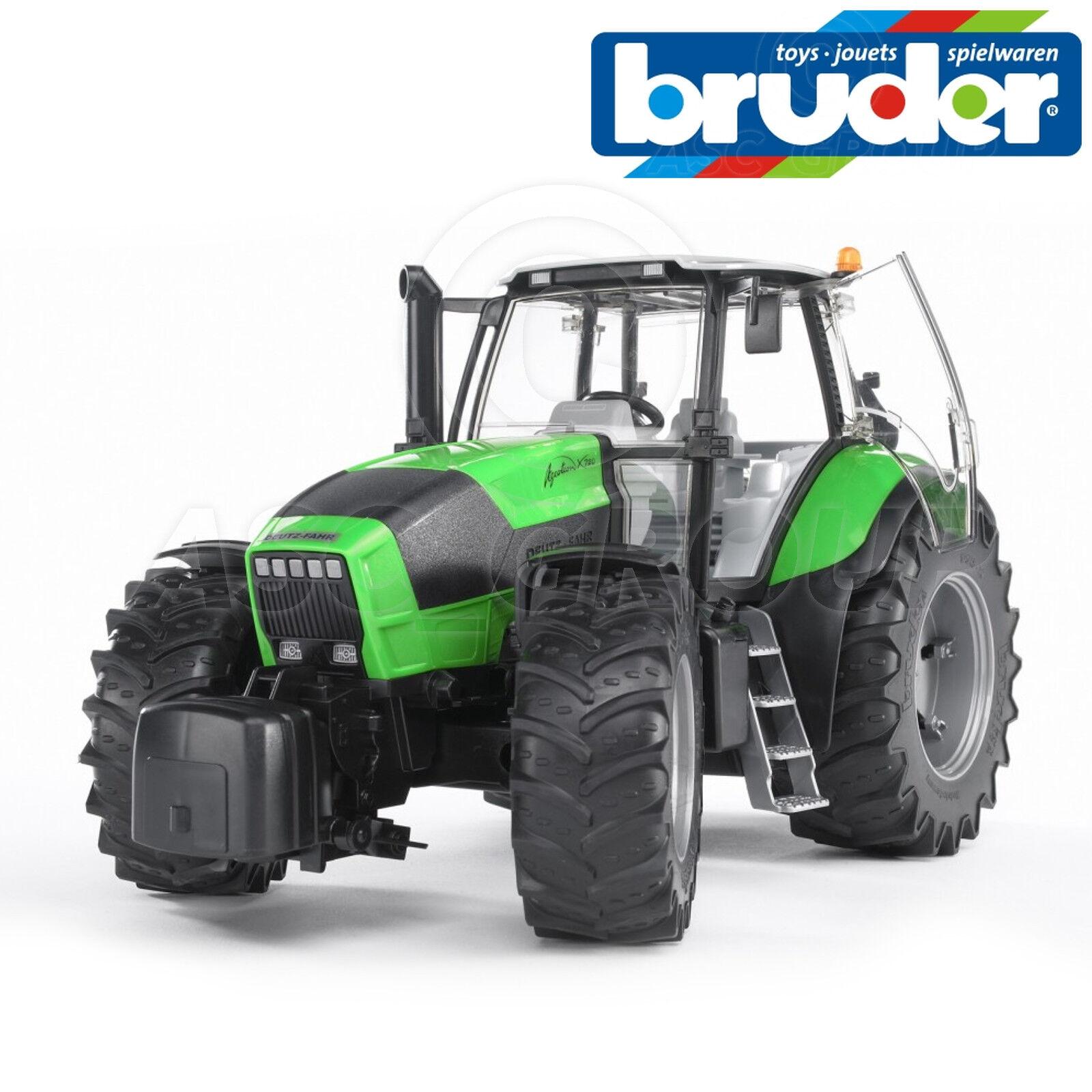 Bruder Toys 03080 Deutz Agredron X720 Tractor - Working Steering + Hitch 1 16